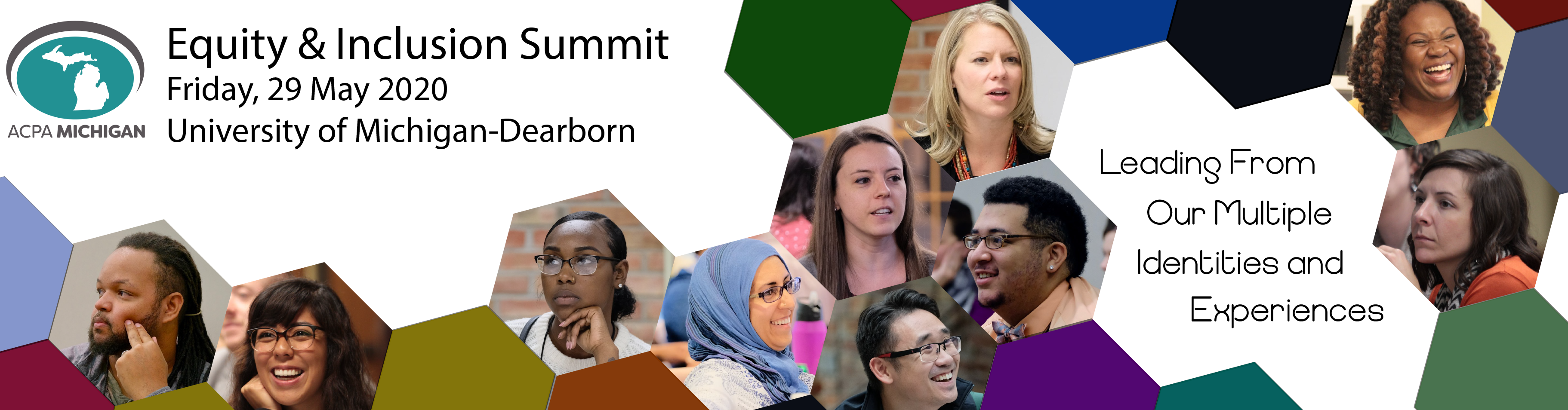 ACPA-Michigan Equity and Inclusion Summit, Friday 29 May 2020, University of Michigan-Dearborn